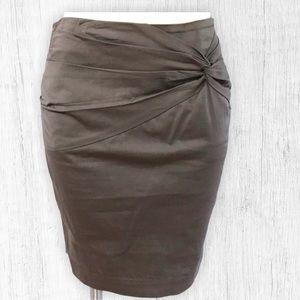 Gray Knot Pencil Skirt